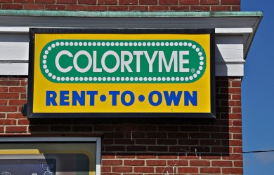Colortyme Rent-to-Own Sign - Waterbury, Connecticut
