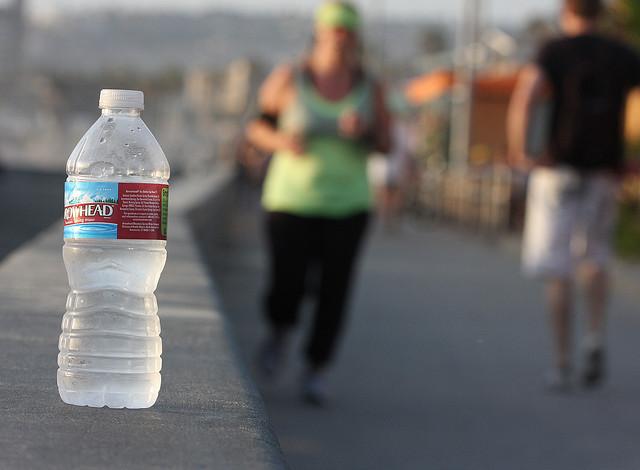 Water bottle bokeh